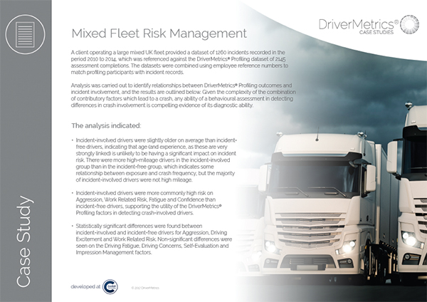 Mixed Fleet Risk Management - DriverMetrics